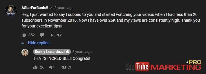 nhận xét trên youtube và cách trả lời chúng