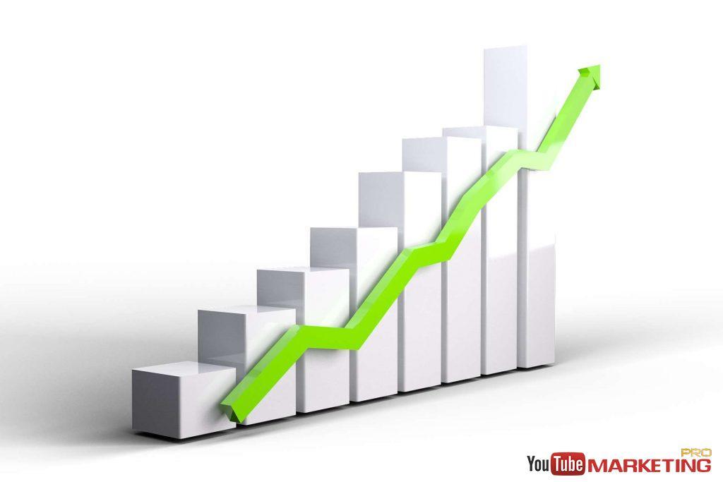 đồ thị tăng trưởng - mũi tên xanh