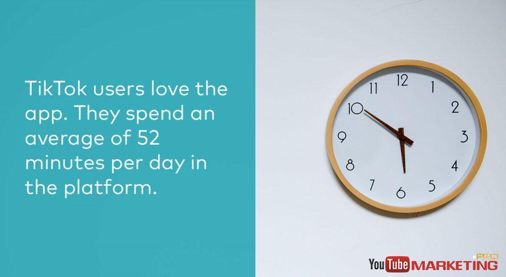 người dùng tiktok thời gian họ dành